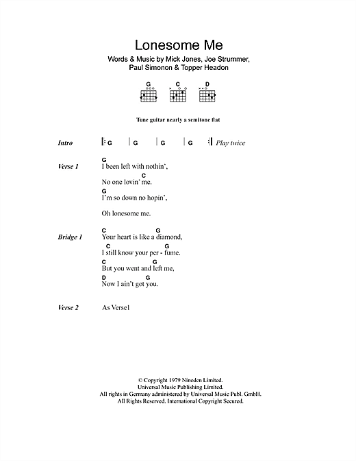 Lonesome Me (Guitar Chords/Lyrics)