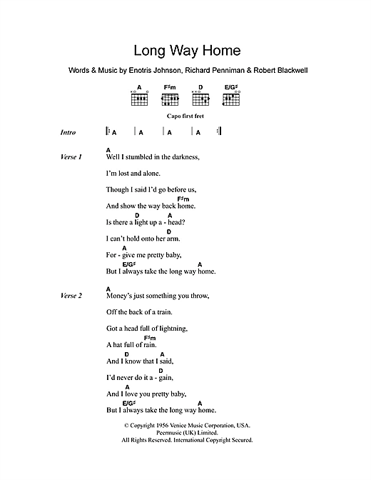 Long Way Home Sheet Music