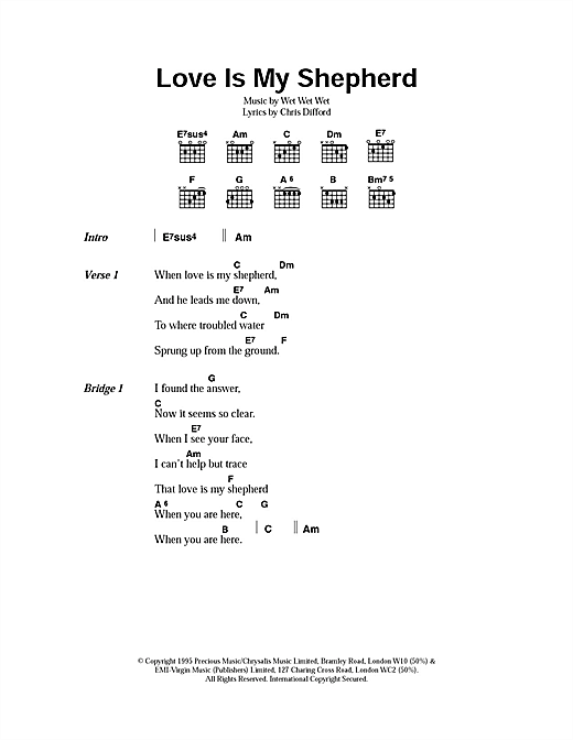 Love Is My Shepherd Sheet Music