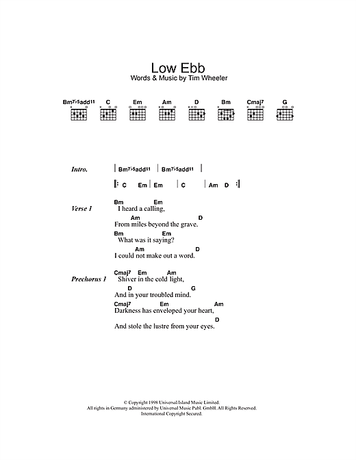 Low Ebb Sheet Music