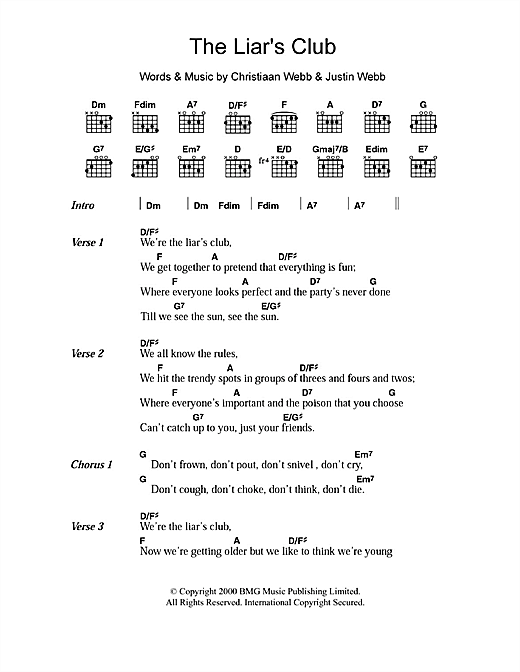 The Liar's Club Sheet Music