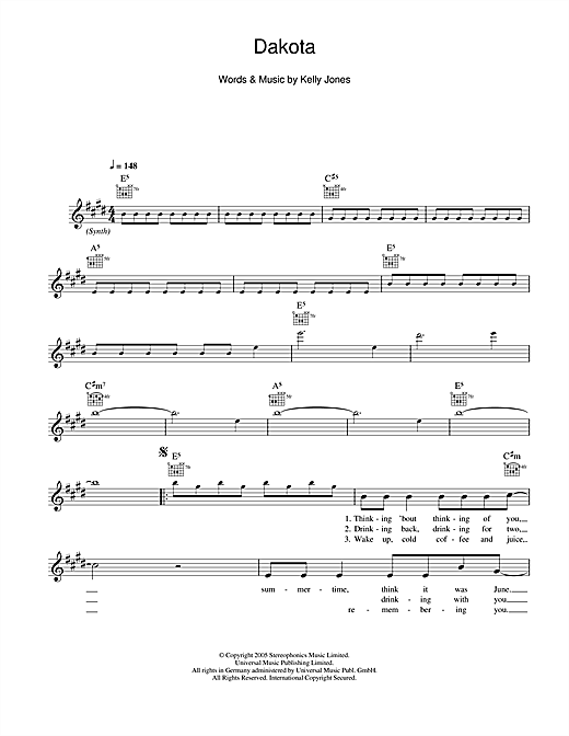 Dakota Sheet Music
