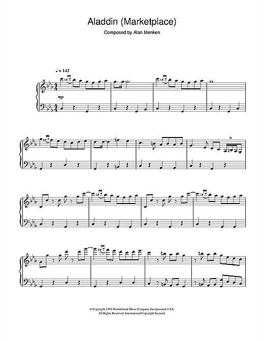 Aladdin (Marketplace) Sheet Music