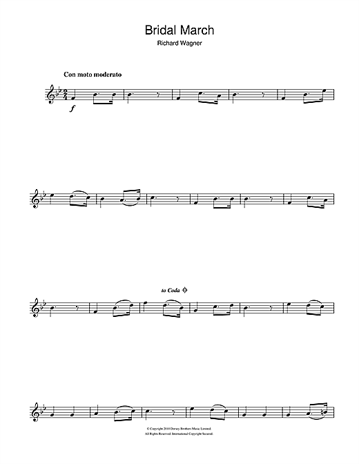 Bridal March Sheet Music