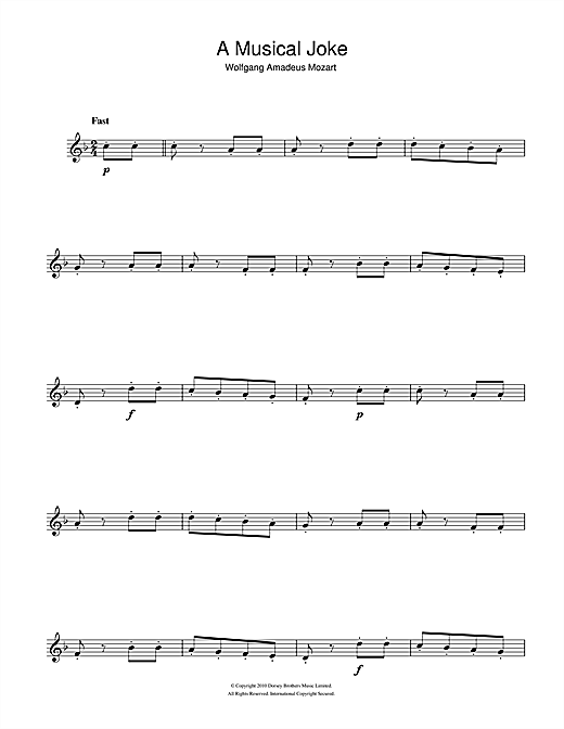 A Musical Joke Sheet Music