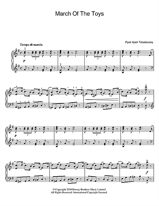 March Of The Toys (from The Nutcracker Suite) (Piano Solo)