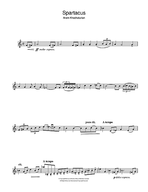 Spartacus (Love Theme) (Clarinet Solo)