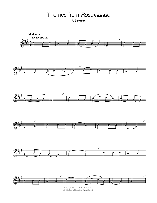 Rosamunde Overture Sheet Music