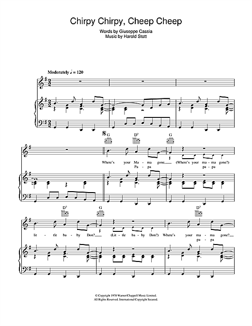 Chirpy Chirpy Cheep Cheep Sheet Music