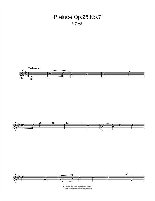 Prelude Op.28 No.7 Sheet Music