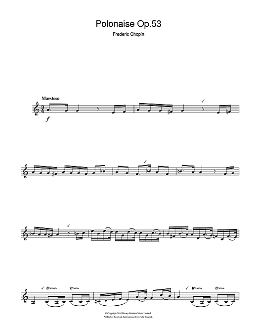 Polonaise Opus 53 Sheet Music