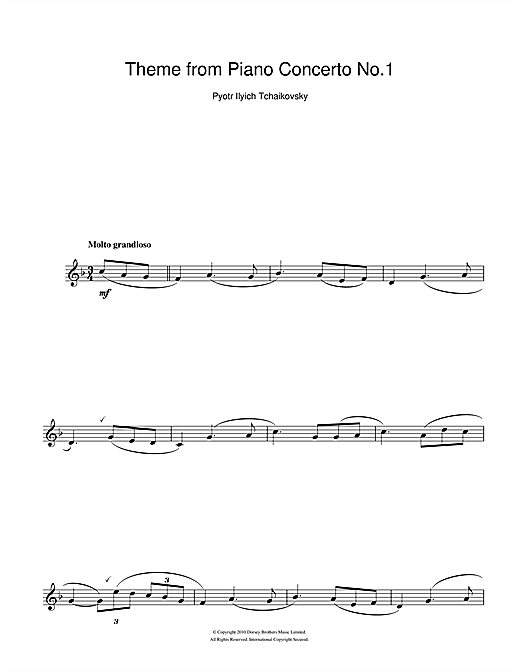 Piano Concerto No. 1 in B Flat Minor Op. 23 Sheet Music