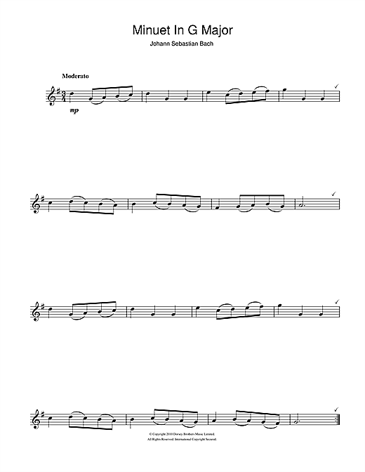 Minuet In G (Flute Solo)