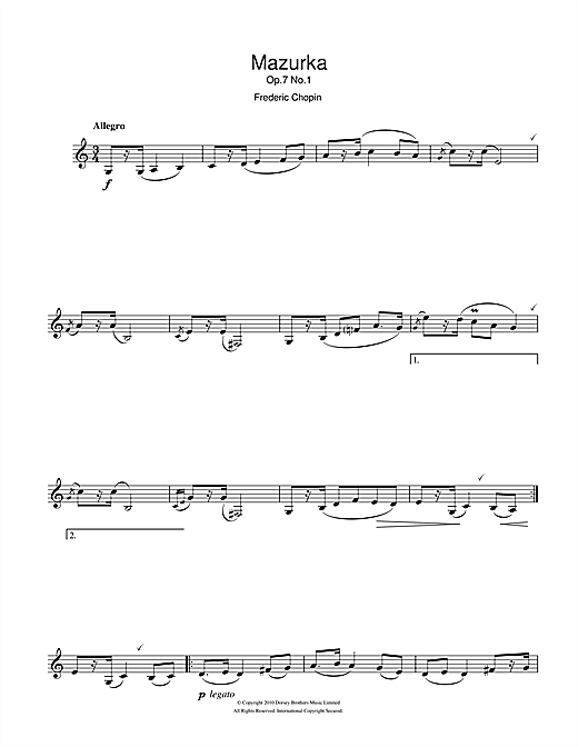 Mazurka Op.7, No.1 Sheet Music