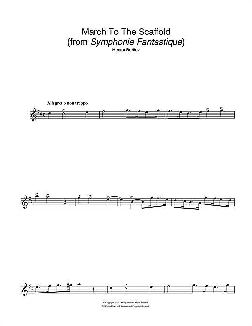 Symphonie Fantastique (4th Movement: March To The Scaffold) Sheet Music