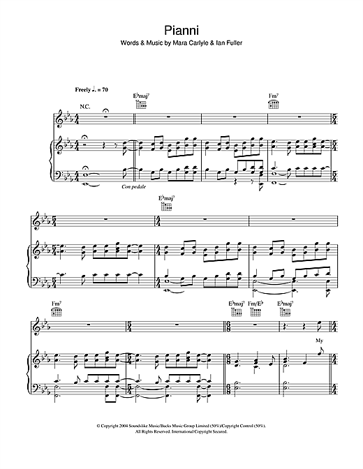Pianni Sheet Music
