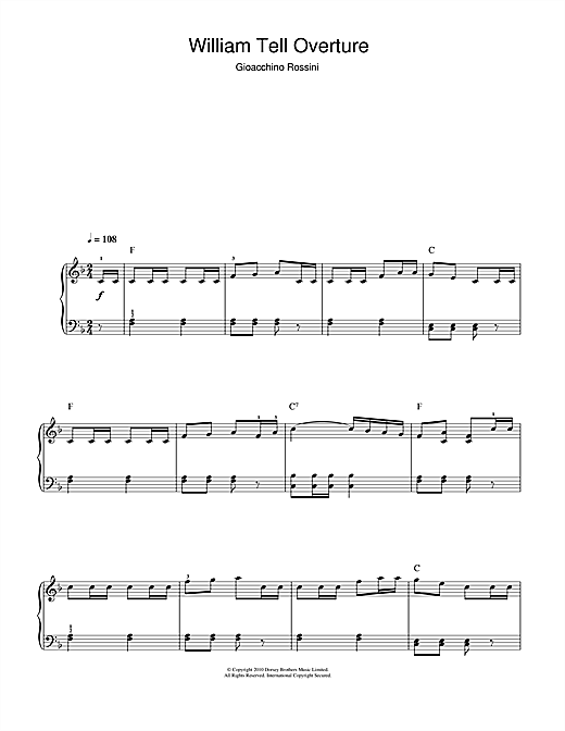 William Tell Overture (Finale) (Beginner Piano)