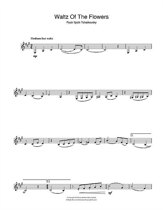 Waltz Of The Flowers (from The Nutcracker Suite) Sheet Music