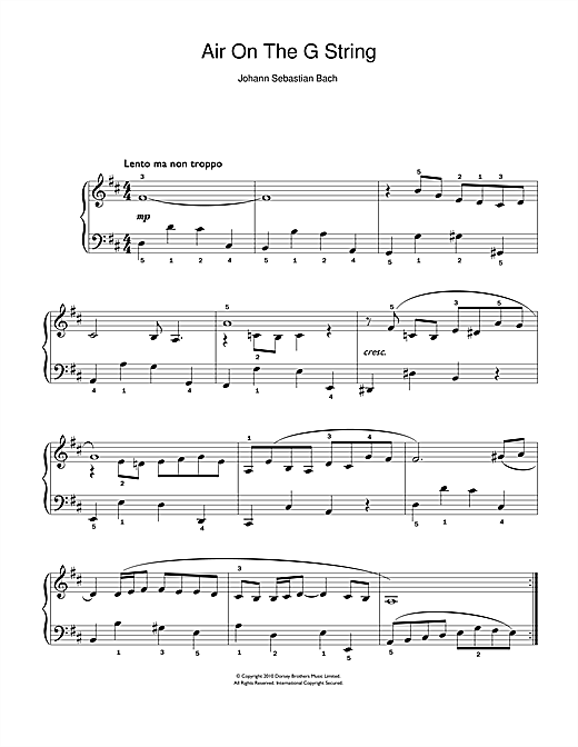 Air On The G String (from Suite No.3 in D Major) Sheet Music