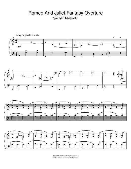 Romeo And Juliet Sheet Music