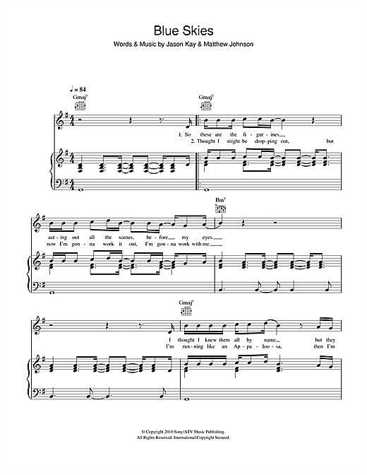 Blue Skies Sheet Music