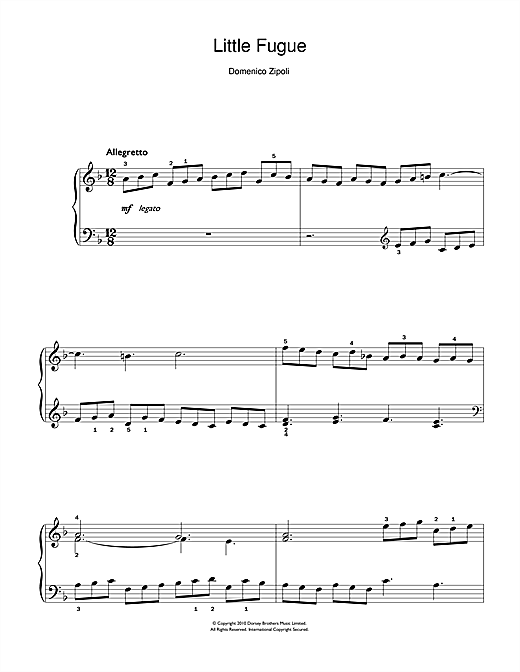 Little Fugue Sheet Music