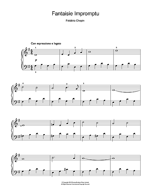 Fantaisie Impromptu Sheet Music