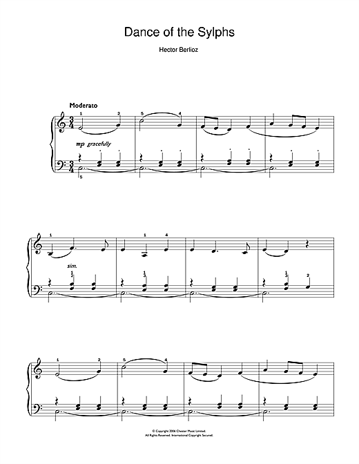 Dance Of The Sylphs (from The Damnation Of Faust) Sheet Music