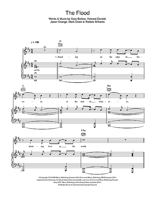The Flood Sheet Music