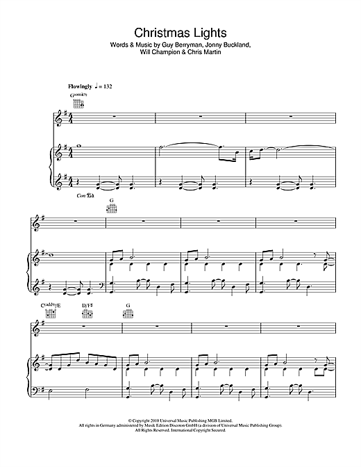 Christmas Lights Sheet Music