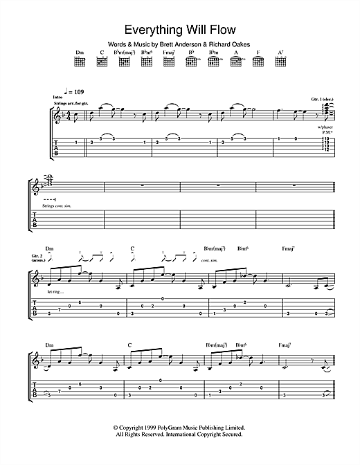 Everything Will Flow Sheet Music