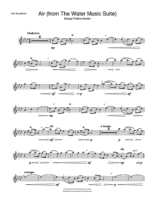 Air (from The Water Music Suite) Sheet Music