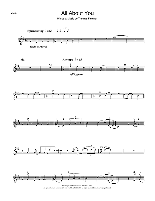 All About You Sheet Music