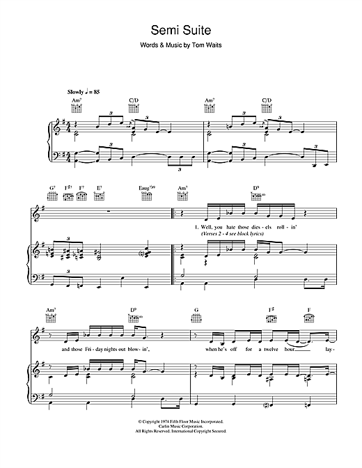 Semi Suite Sheet Music