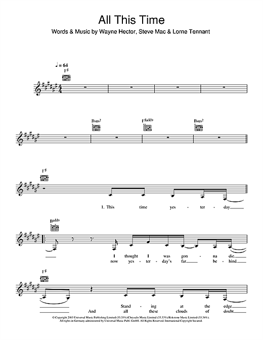 All This Time Sheet Music