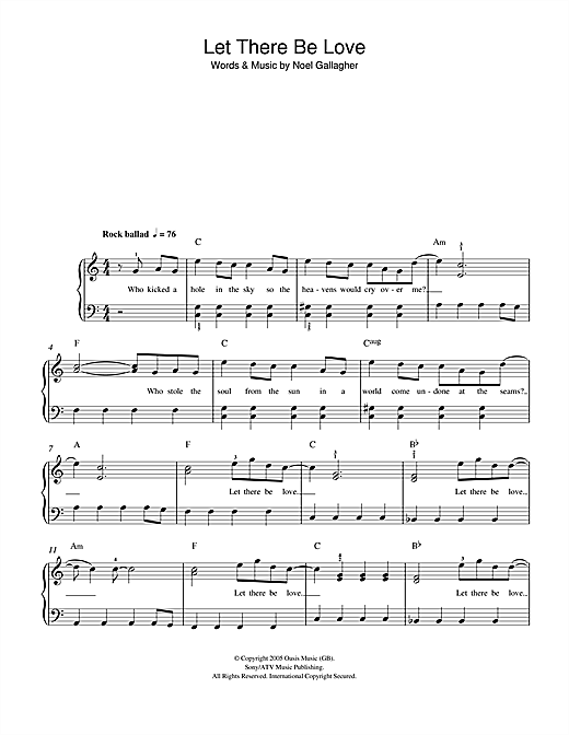 Let There Be Love Sheet Music