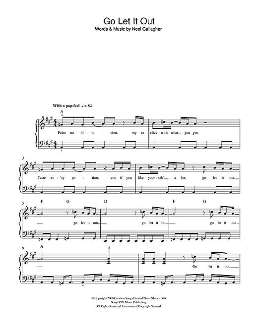 Go Let It Out (Beginner Piano)