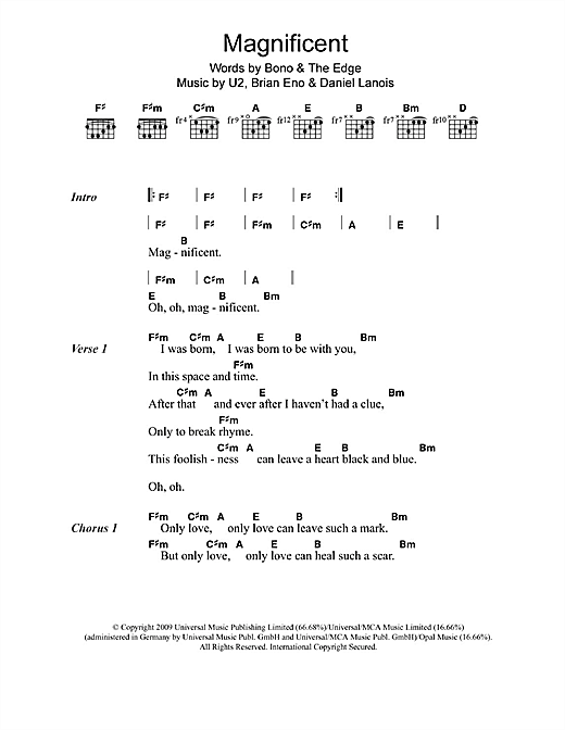 Magnificent (Guitar Chords/Lyrics)