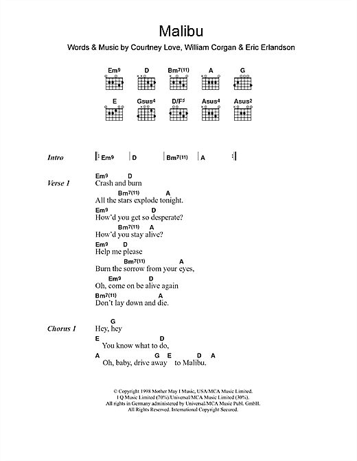 Hole - Doll Parts Chords - AZ Chords