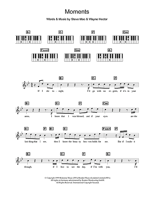 Moments Sheet Music