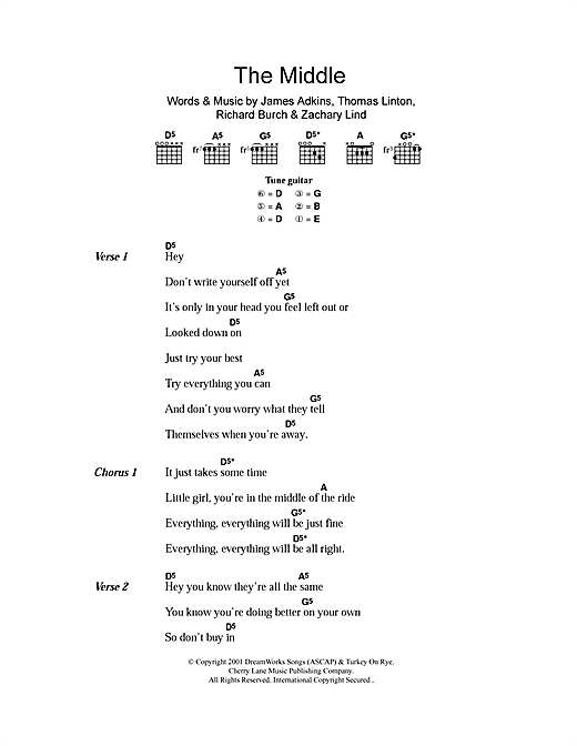 The Middle Sheet Music