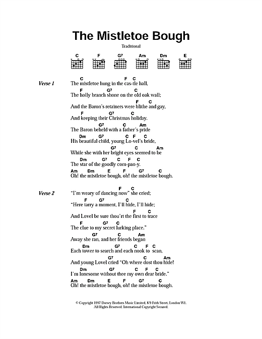 The Mistletoe Bough (Guitar Chords/Lyrics)