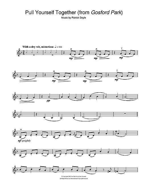 Pull Yourself Together (from Gosford Park) Sheet Music