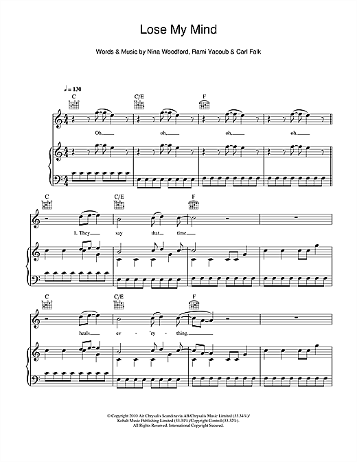 Lose My Mind Sheet Music