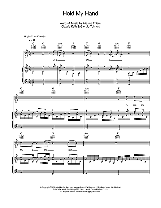 Hold My Hand (feat. Akon) Sheet Music