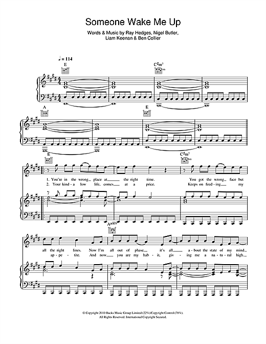 Someone Wake Me Up Sheet Music