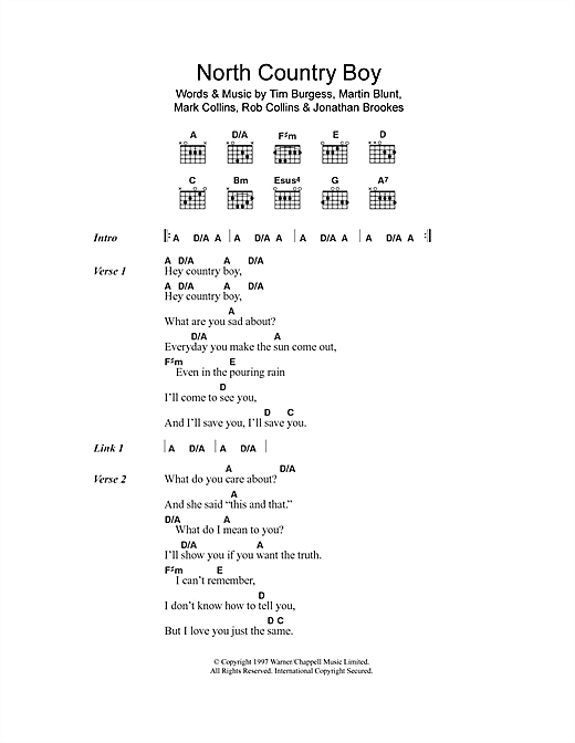North Country Boy (Guitar Chords/Lyrics)