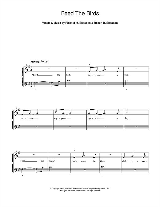 Feed The Birds Sheet Music