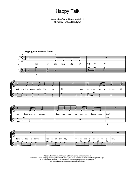 Happy Talk (from South Pacific) Sheet Music