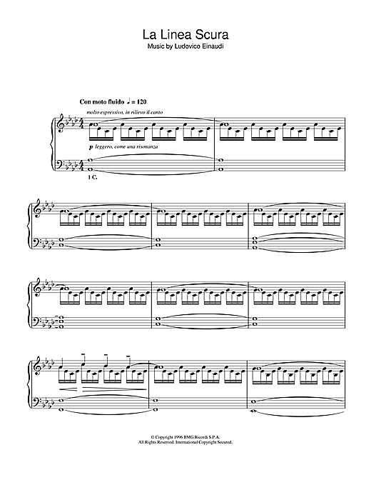 La Linea Scura Sheet Music